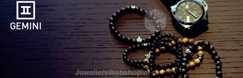 Gemini Armbanden-Armbanden voor heren van natuursteen