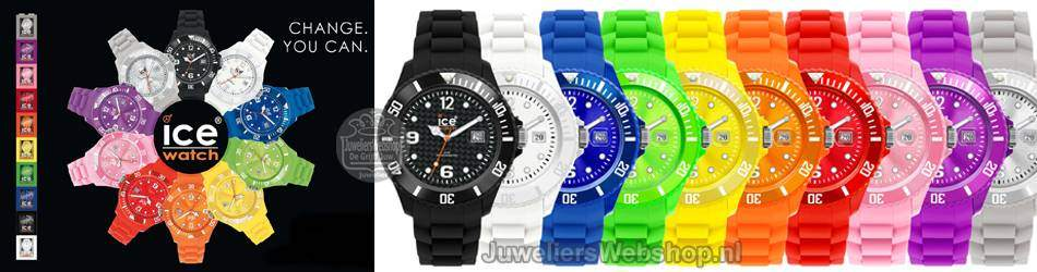Ice Watch horloges. Trendy horloges in hippe kleuren.