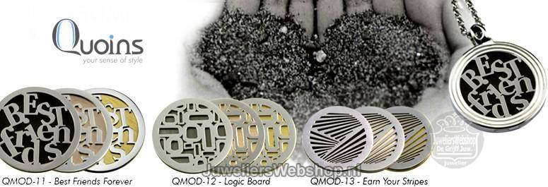 Quoins Munten en Disks zijn gemaakt van sterk edelstaal met mooie stenen.