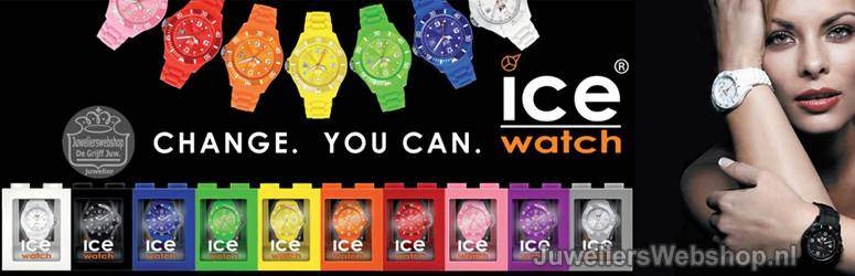 Ice Watch horloges - Ice Watches Solid - Pure - Sili - Chrono -Stones