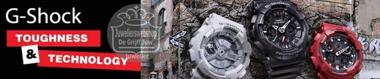 Bekijk hier alle CASIO horloges online bij JuweliersWebshop.nl - G-Shock - Edifice - Aviation -Grafity Defier - G-Premium - Pro Trek