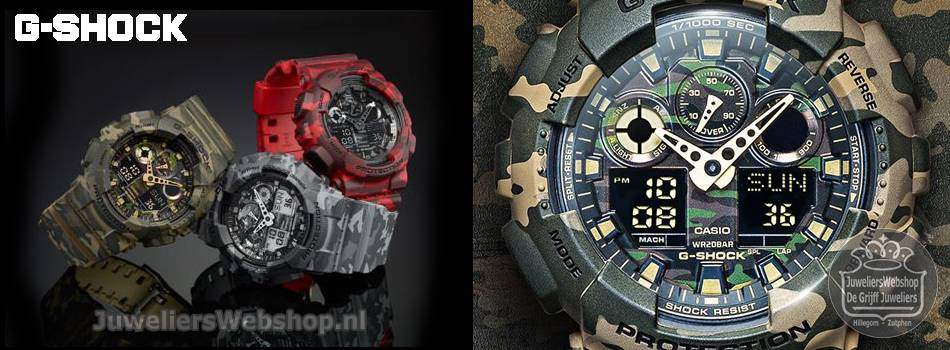 G-Shock horloges Casio Camouflage