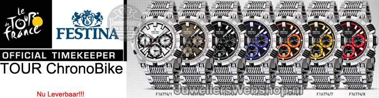 Festina horloges Tour de France - Chrono Bike 2014 -Edelstaal