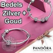 Pandora Bedels Zilver+Goud - Pandora Charms