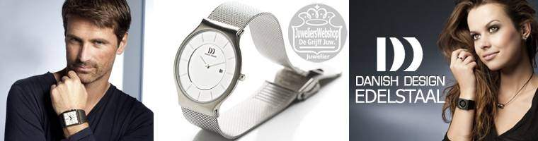 Danish Design horloges - watches in Edelstaal voor dames en heren.