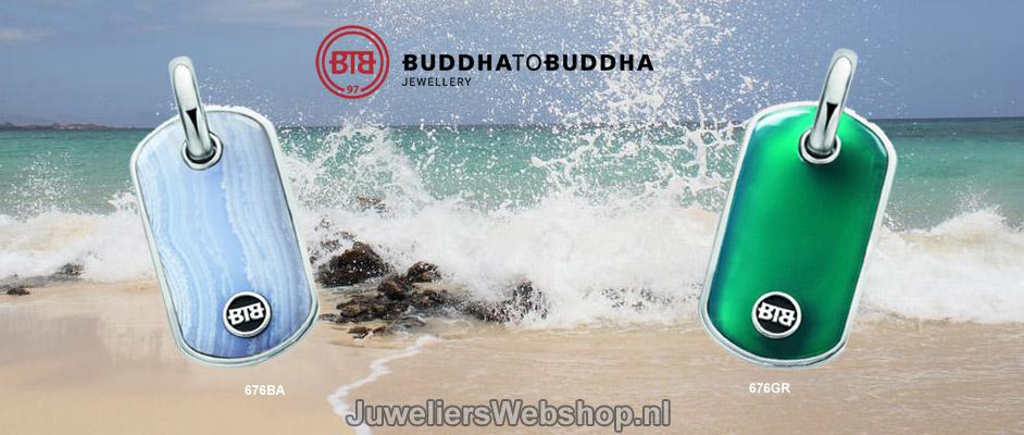 Buddha to Buddha Hanger Stone Pendant Green en Blue.