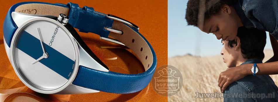 Calvin Klein Rebel horloge blauw