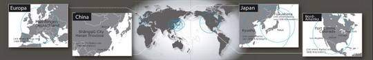 Radio Controlled horloges Citizen Zendergestuurd. Overzicht van de zendmasten in de wereld.