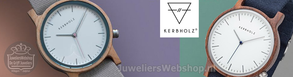 Kerbholz design horloge