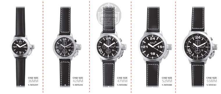 Max horloges - Max watches is verschillende maten.