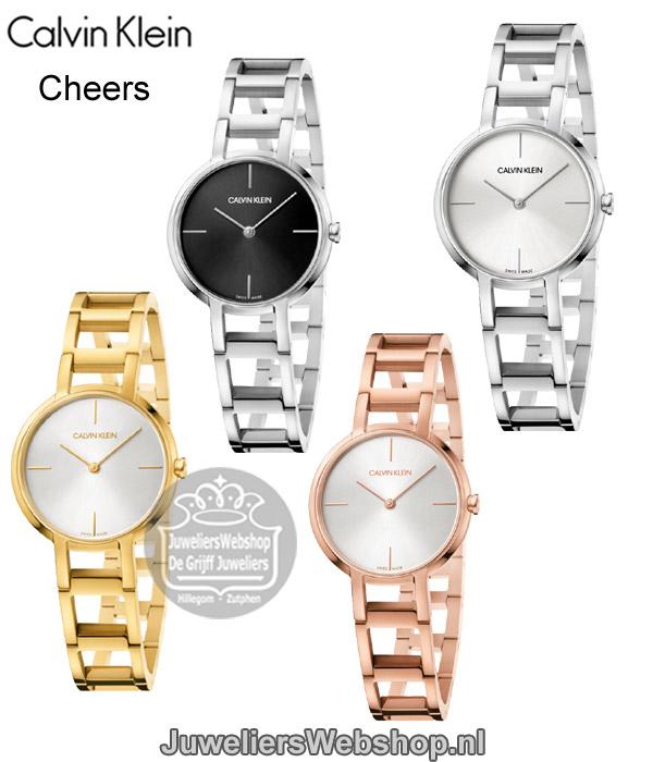 Calvin Klein Cheers Horloge K8N23546 Dames CK Horloge Goud