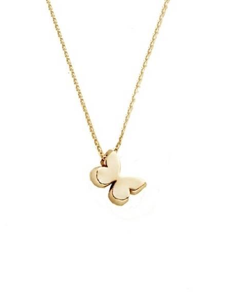 50% prijs meest populair hete verkoop JOY de la LUZ Yi-Butterfly Gouden Initial ketting met Vlinder Geelgoud