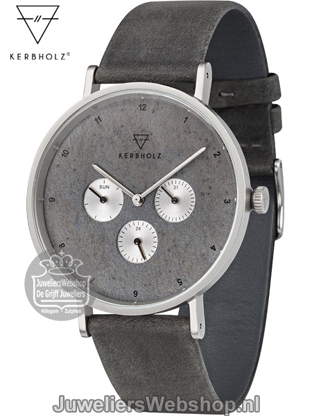 | Kerbholz Emil Midnight Slate Midnight Black Horloge 4251240406985