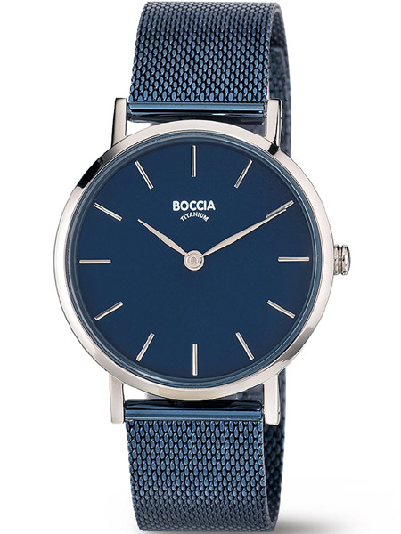 verenigd koninkrijk kortingscode gezellig fris Boccia dames horloge 3281-07 titanium blauw