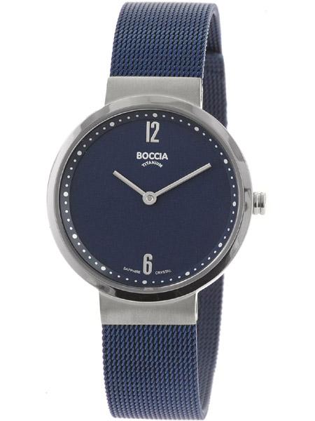 speciale sectie hete verkoop mode stijlen Boccia dames horloge 3283-04 titanium blauw