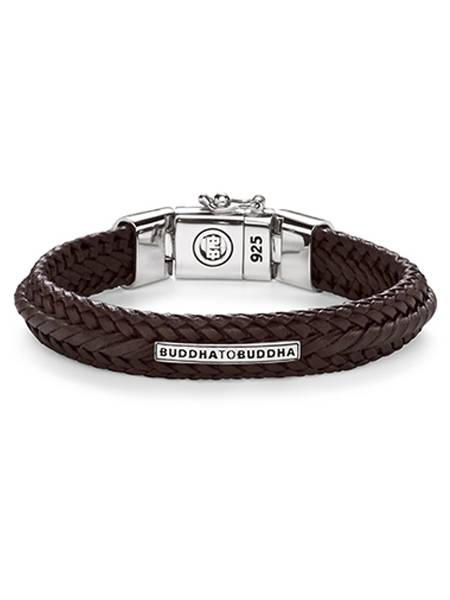 Buddha To Buddha Armband Leer.Buddha To Buddha Nurul Small Leather Brown Armband 816br E 19cm