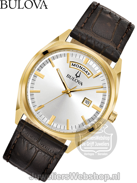 | Bulova Surveyor Herenhorloge 97C106 Goud