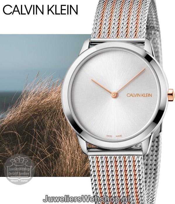 Bicolor Midsize Calvin Klein Horloge Minimal K3m22b26 Dames 6Ygb7fy