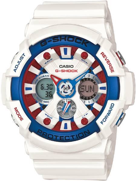 G Shock Zwart Met Rood.Casio G Shock Ga 201tr 7aer G Shock Horloge Wit Juwelierswebshop