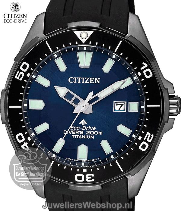 1fca0478e71f14 Citizen titanium duikhorloge BN0205-10L Promaster Sea zwart rubber
