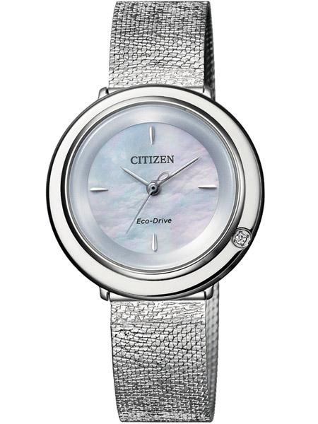 Nieuw Citizen L EM0640-82D dames horloge Eco Drive Ladies zilver met diamant YO-23