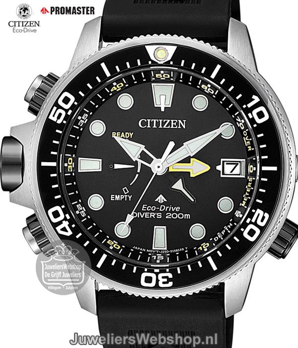 ce2902e36001be Citizen BN2036-14E Promaster Sea Eco Drive duikhorloge heren zwart