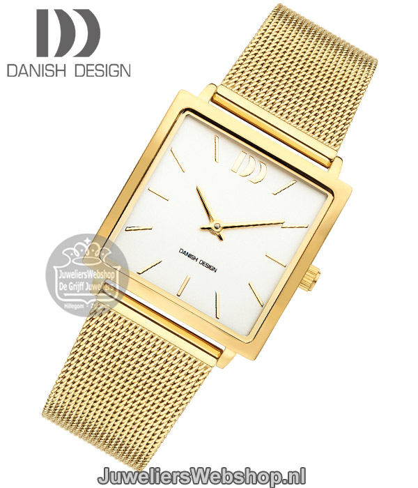 Verrassend Danish Design dames horloge Miami IV05Q1248 staal vierkant goud TP-06