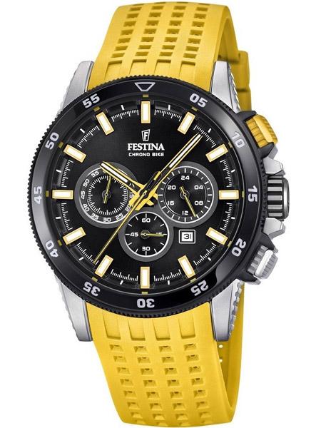 92a3cb49d85 Festina horloge F20353-5 Chrono Bike 2018 Geel Festina Watches