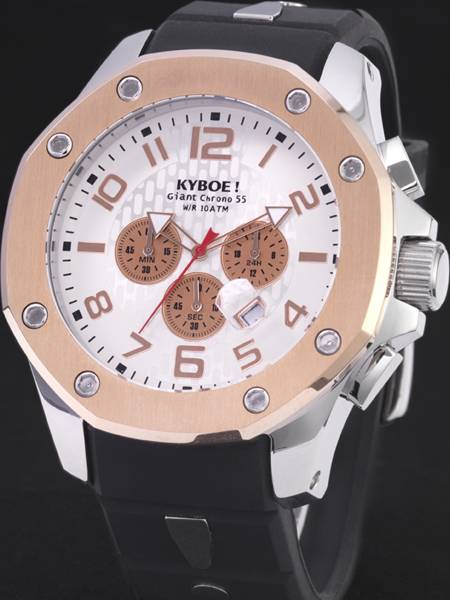 | Kyboe horloge KPS-003 Chrono Port Series 55mm Rose Black