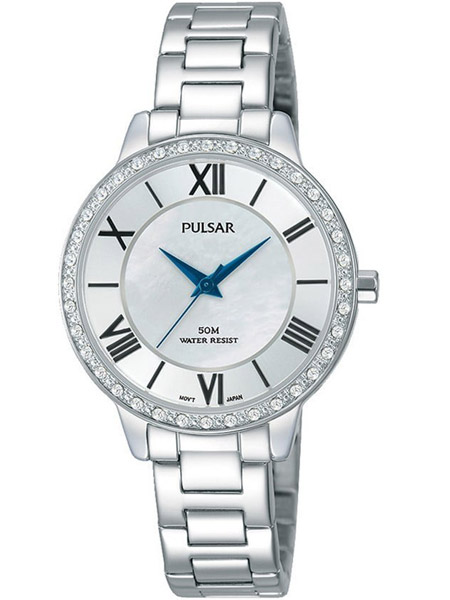 f1d9a7844ff Pulsar horloge PH8399X1 dames staal zilver met swarovski kast