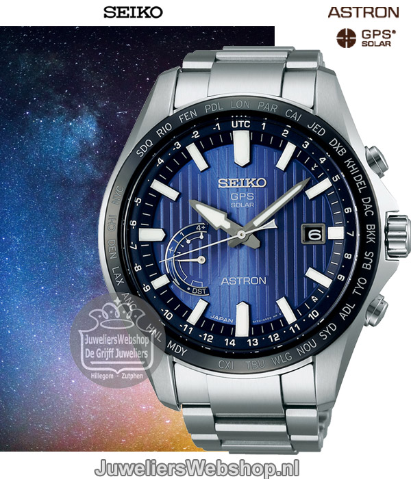 Seiko Astron Aanbieding.Seiko Astron Horloge Sse159j1 Gps Solar World Time Heren Horloge