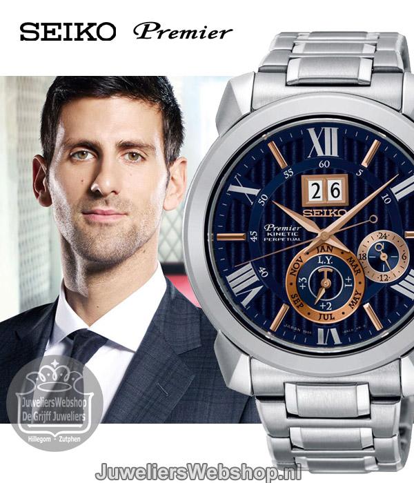 Seiko Premier SNP153P1 horloge Kinetic Perpetual