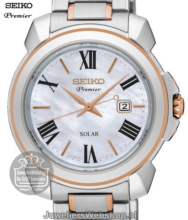 Verwonderlijk Seiko Premier Solar SUT322P1 Bicolor Horloge voor dames PR-03