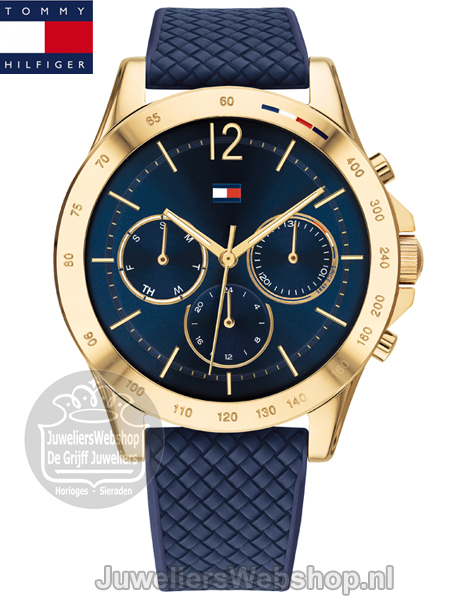 tommy hilfiger Haven dameshorloge TH1782198 staal blauw