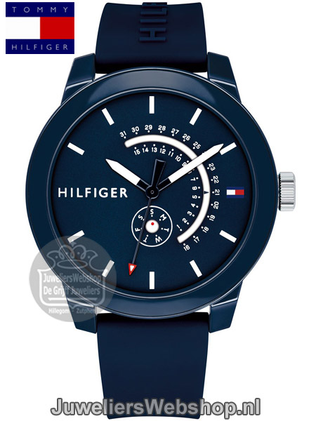 | Tommy Hilfiger Horloge TH1791482 Denim Blauw