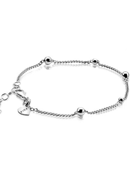 ga online redelijke prijs rijgen in Zinzi zilveren armband met bolletjes ZIA987