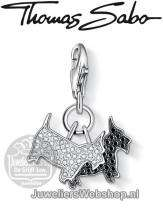 Thomas Sabo Bedel 1019-051-18 Dogs Charm Zilver