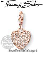 Thomas Sabo Bedel 1021-416-14 Heart Charm Rose