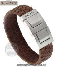 Leren armband Dacaya Mud Max Lightbrown 20mm F111320