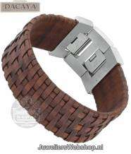 Leren armband Dacaya Mud Max Brown 28mm F103228