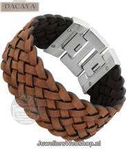 Leren armband Dacaya Off Road Brown 20mm F107220