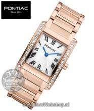 Pontiac horloge Classic P10012 Dames Rose Edelstaal