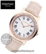 Pontiac horloge Roman P10017 Dames Edelstaal