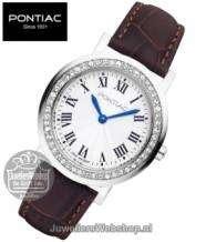 Pontiac horloge Roman P10018 Dames Edelstaal