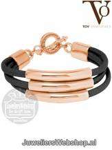 TOV Essentials Armband Three Cord Tube 1631 Rose Black