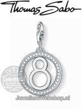 Thomas Sabo Bedel 1049-051-14 Lucky number 8 Charm Zilver
