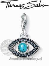 Thomas Sabo Bedel 1053-405-17 Turkish eye Charm Zilver