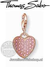 Thomas Sabo Bedel 1066-416-9 Heart Charm Rose
