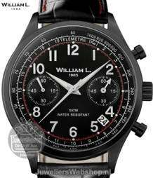 William L Horloge WLIB01NRCNSR Chrono Zwart