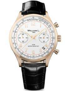William L 1985 heren horloge WLOR01BCORCN Chronograph Vintage Style